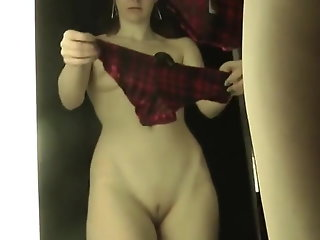 brunette hidden camera